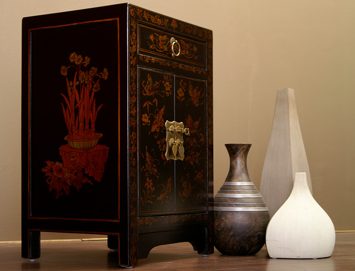 chinesische kommode nachtschrank china m bel schwarz. Black Bedroom Furniture Sets. Home Design Ideas
