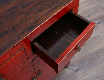 Antikes Sideboard Rot Buffet Wohnzimmer Kchenschrank