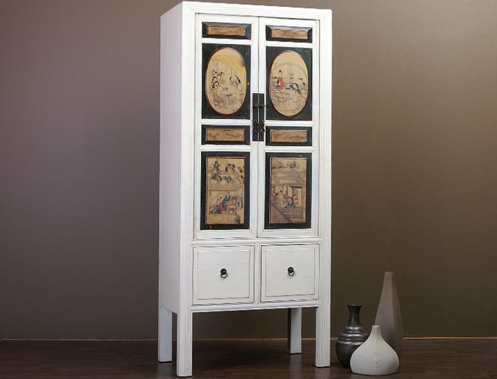 chinesischer schrank china hochzeitsschrank schmal wei. Black Bedroom Furniture Sets. Home Design Ideas