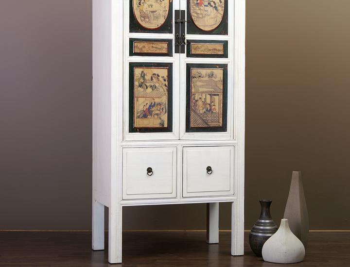 chinesischer schrank china hochzeitsschrank schmal wei m bel chinam bel 2021d ebay. Black Bedroom Furniture Sets. Home Design Ideas