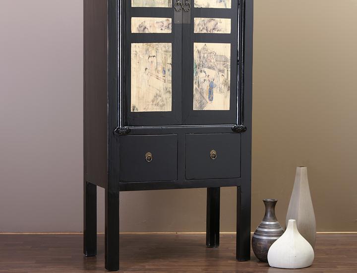 chinesischer schrank schwarz aktenschrank hohzeitsschrank china m bel feng shui ebay. Black Bedroom Furniture Sets. Home Design Ideas
