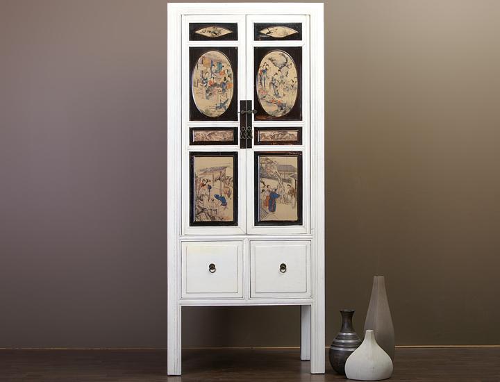 chinesischer schrank wei schmal hochzeitsschrank chinam bel china m bel feng ebay. Black Bedroom Furniture Sets. Home Design Ideas
