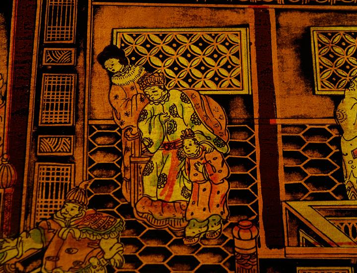 Chinesischer Opiumtisch Couchtisch China Tisch Möbel schwarz gold ...