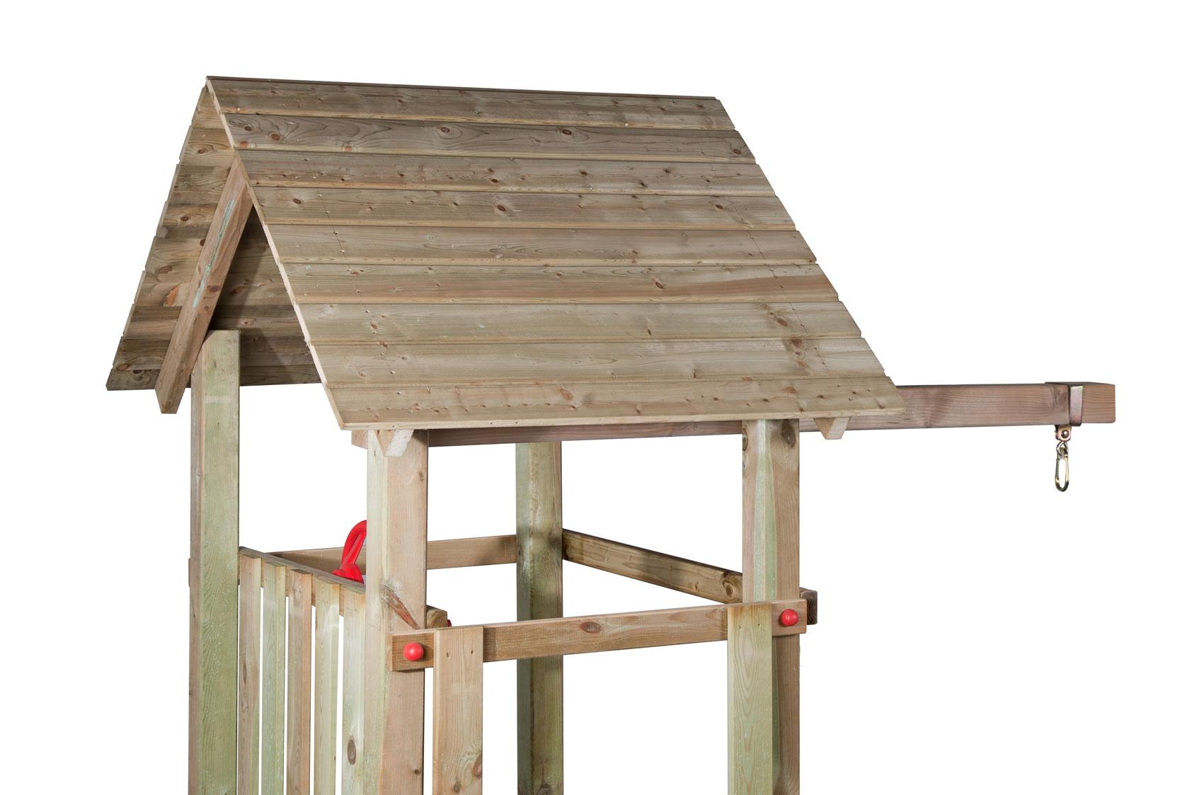 spielturm beauty woodini l kletterturm mit schaukel netz. Black Bedroom Furniture Sets. Home Design Ideas