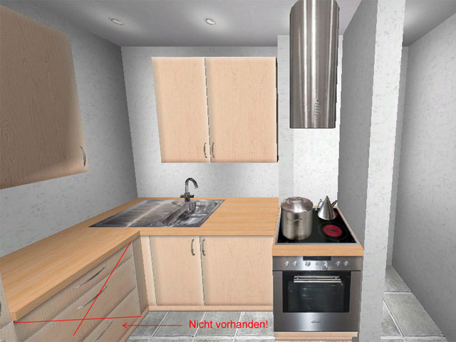 Küche l form wildbirne dachwohnung singelküche l küche l form klein
