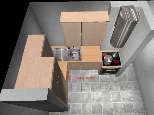kleine k che l form wildbirne dachwohnung singelk che l. Black Bedroom Furniture Sets. Home Design Ideas