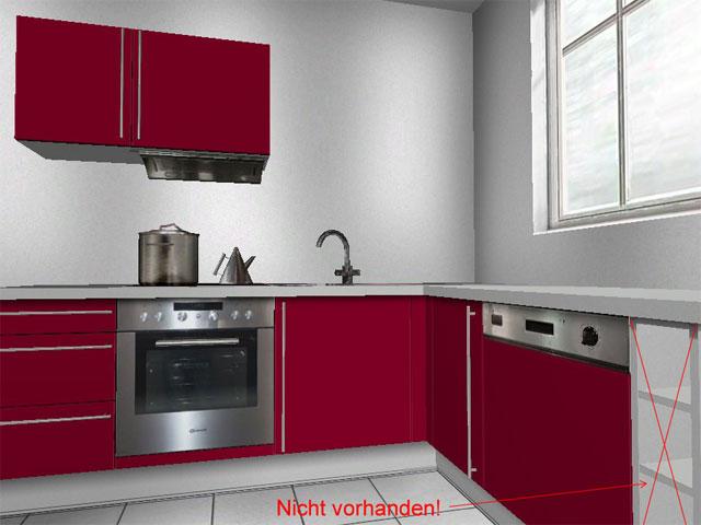 wellmann alno ag kleine l form k che einbauk che neu bordeaux ebay. Black Bedroom Furniture Sets. Home Design Ideas