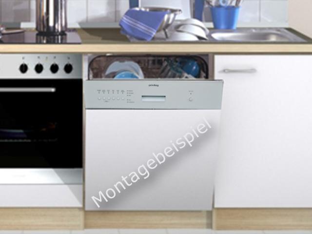 Spulmaschine 60cm weisse blende kuchenfront neu sparsam for Spülmaschine 60cm