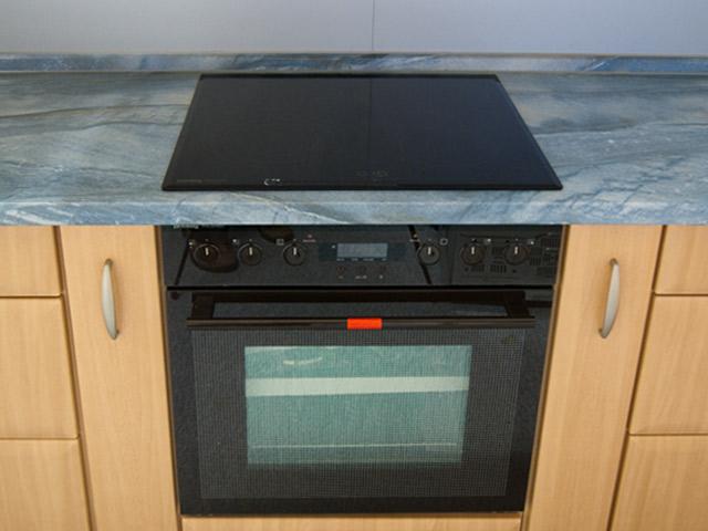 einbauherd herdset braun glasfront ceranfeld 59x52 cm ebay