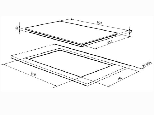 90 cm 5 platten glaskeramik einbau kochfeld autark k che. Black Bedroom Furniture Sets. Home Design Ideas