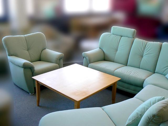 Couch Ottomane Teflon Sofagarnitur Wohnlandschaft Rundecke Federkern