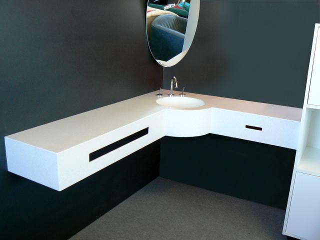bad eck waschbecken mineralguss waschtisch armatur eck. Black Bedroom Furniture Sets. Home Design Ideas