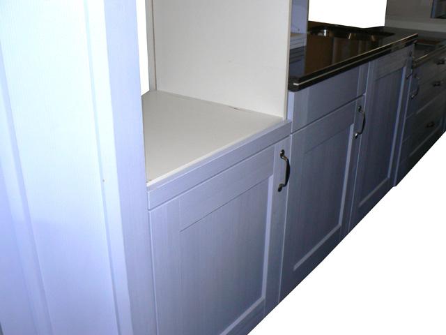 alno k chenzeile alnofinn mk 75 nordicblau landhaus musterk che aussteller ebay. Black Bedroom Furniture Sets. Home Design Ideas