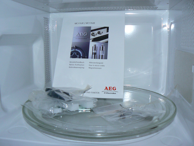 einbau mikrowelle aeg mc1752ew 50cm f r h ngeschrank wei mit display neu ebay. Black Bedroom Furniture Sets. Home Design Ideas