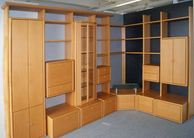 eck stollen wand wohnzimmer schrank l form orig eckschrank regal ebay. Black Bedroom Furniture Sets. Home Design Ideas