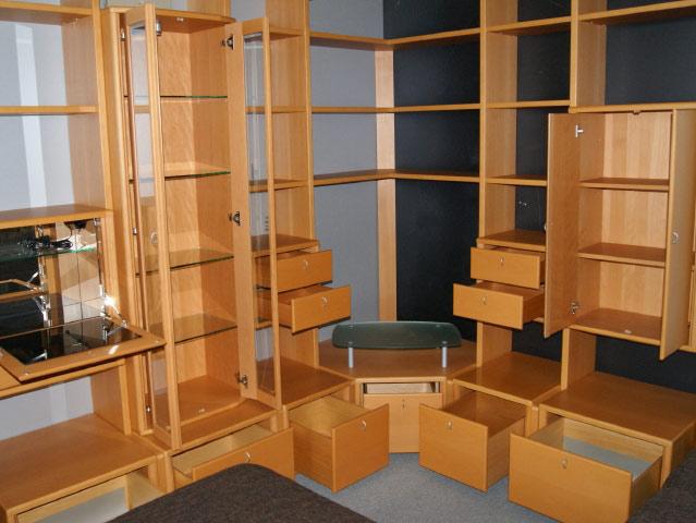 eck stollen wand wohnzimmerschrank l form orig eckschrank b cherregal ebay. Black Bedroom Furniture Sets. Home Design Ideas