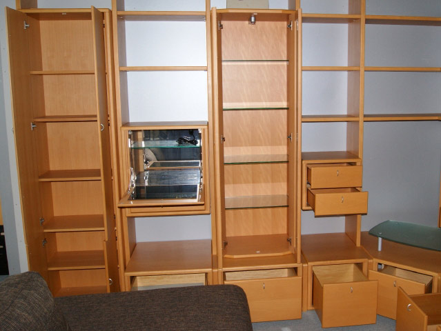 eck stollen wand wohnzimmer schrank l form orig. Black Bedroom Furniture Sets. Home Design Ideas