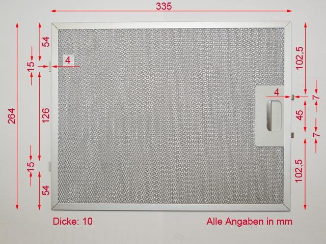 jan kolbe 335mm x 264mm metall fettfilter f r dunstabzug dunstabzugshaube ebay. Black Bedroom Furniture Sets. Home Design Ideas