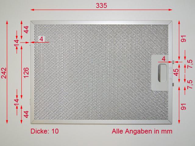 jan kolbe 335 mm x 242 mm metall fettfilter 69. Black Bedroom Furniture Sets. Home Design Ideas