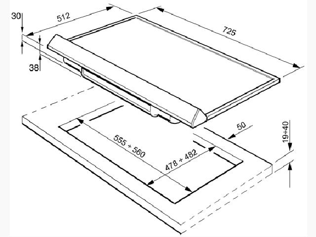 smeg gaskochfeld qualit t gasplatte gaskochplatte incl d sen f r propan gas. Black Bedroom Furniture Sets. Home Design Ideas