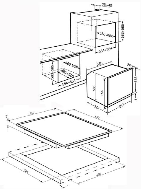 smeg backofen mit ceran schott kochfeld autark. Black Bedroom Furniture Sets. Home Design Ideas