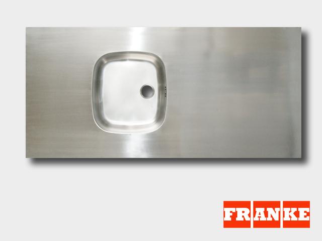130 cm Franke Spüle Arbeitsplatte 1300 x 600 x 50 mm Edelstahl ... | {Spülbecken edelstahl eckig 45}