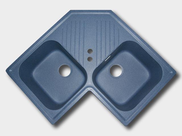 ecksp lbecken sp lbecken sp le k chensp le einbausp lbecken k che blau augsburg ebay. Black Bedroom Furniture Sets. Home Design Ideas