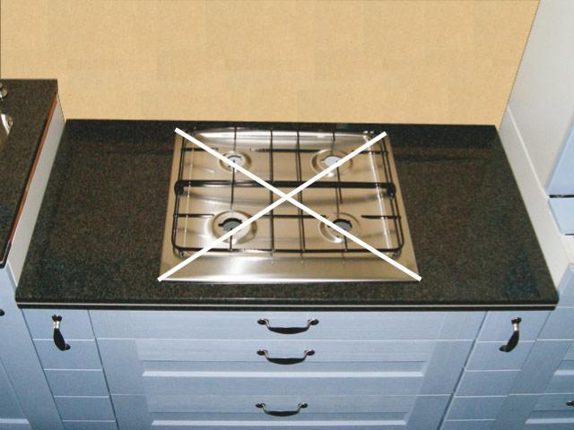 120 cm Granit Küchen Arbeitsplatte schwarz für Kochfeld 75 cm ... | {Küchenarbeitsplatte schwarz 26}
