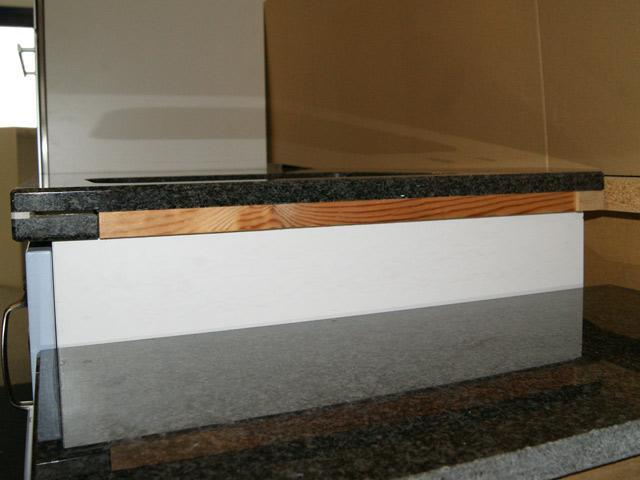 120 cm Granit Küchen Arbeitsplatte schwarz für Kochfeld 75 cm Küche | {Arbeitsplatte küche schwarz 56}