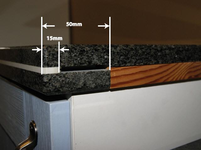 120 cm Granit Küchen Arbeitsplatte schwarz für Kochfeld 75 cm Küche | {Arbeitsplatte küche schwarz 40}