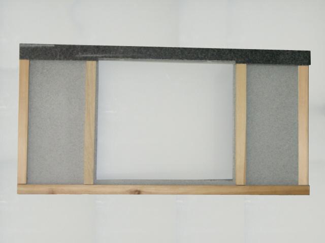 120 cm Granit Küchen Arbeitsplatte Granit schwarz mit BLANCO ...