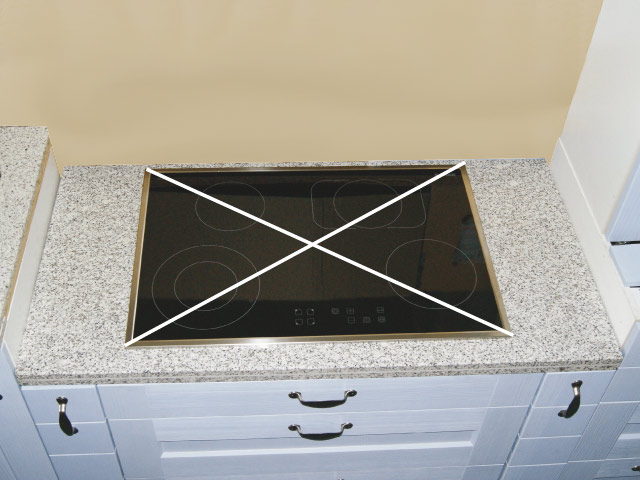 Granit Küchen Arbeitsplatte 120 cm Granit weiß ...