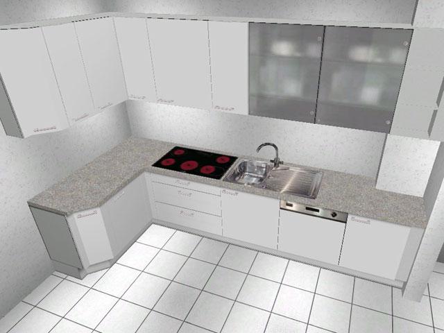 l k che wellmann alno highbord lichtgrau softclosing neu hochwertig ebay. Black Bedroom Furniture Sets. Home Design Ideas
