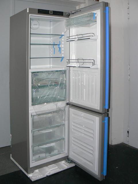 201 cm liebherr k hl gefrier kombination glasfront umluft biofresh nofrost ebay. Black Bedroom Furniture Sets. Home Design Ideas
