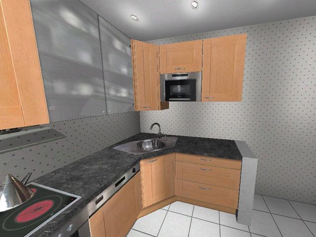 l k che wellmann alno ag birne appotheker schubladen ebay. Black Bedroom Furniture Sets. Home Design Ideas