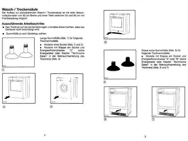 befestigung wasch trockners ule trockner auf waschmaschine. Black Bedroom Furniture Sets. Home Design Ideas