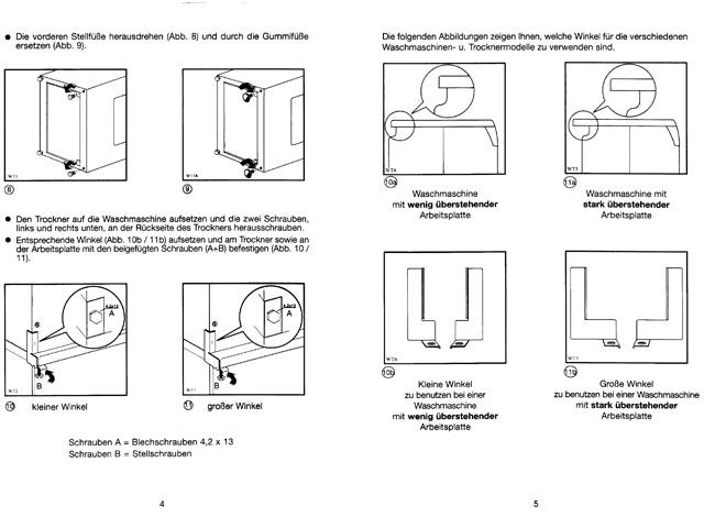 befestigung wasch trockners ule trockner auf waschmaschine stellen. Black Bedroom Furniture Sets. Home Design Ideas