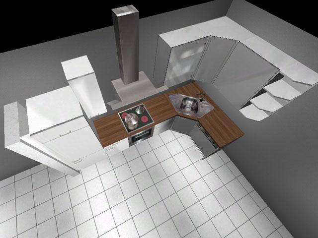 Küchen eckschrank hoch  Küche ALNO AG Neu Eckschrank 322cm x 150cm weiß | eBay