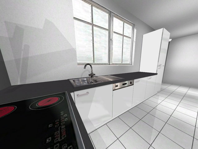 l k che wellmann alno theke hochbackofen hochglanz wei highbord softclosing. Black Bedroom Furniture Sets. Home Design Ideas
