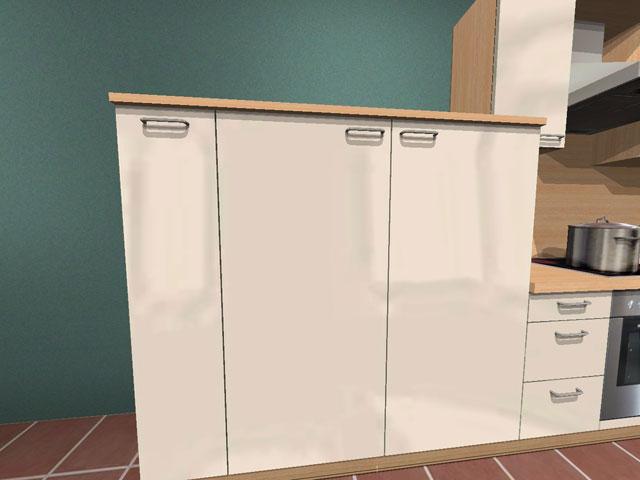 k che alno ag l form demischrank eckschrank neu ebay. Black Bedroom Furniture Sets. Home Design Ideas