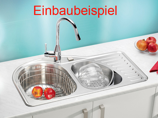 einbau sp le edelstahl abtropfbecken sonderform k chensp le k che ebay. Black Bedroom Furniture Sets. Home Design Ideas