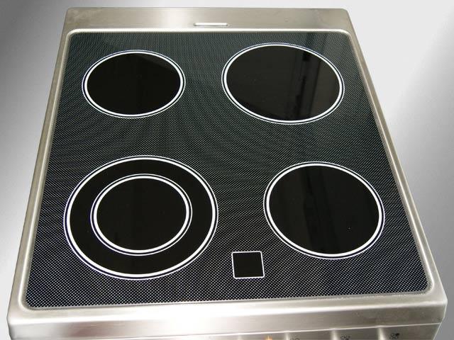 50 cm breiter stand elektro herd backofen glaskeramik standherd pizzastein ebay. Black Bedroom Furniture Sets. Home Design Ideas