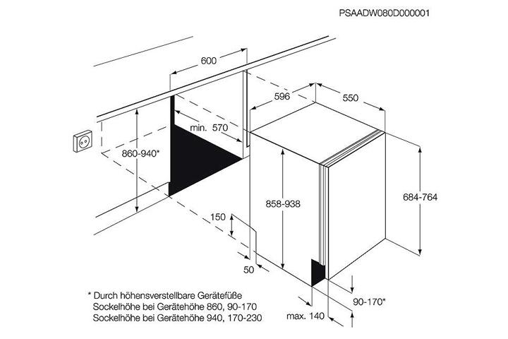60 cm vollint sp lmaschine orig 979 aeg favorit ko plus geschirrsp lmaschine ebay. Black Bedroom Furniture Sets. Home Design Ideas