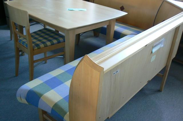eckbank anrei essgruppe tisch mit st hle ahorn massiv essplatz orig 3740 neu ebay. Black Bedroom Furniture Sets. Home Design Ideas