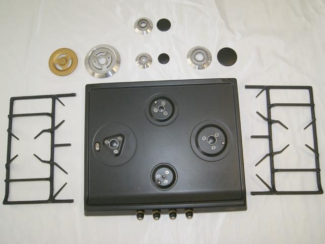gaskochfeld 60cm autark anthrazit regler smeg sr764ao sr264aod export ebay. Black Bedroom Furniture Sets. Home Design Ideas