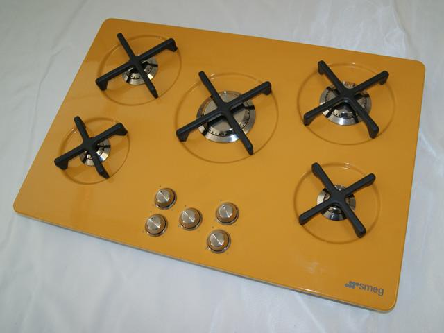 marc newson gaskochfeld autark smeg p755sg p755gd exportger t gasfeld ebay. Black Bedroom Furniture Sets. Home Design Ideas