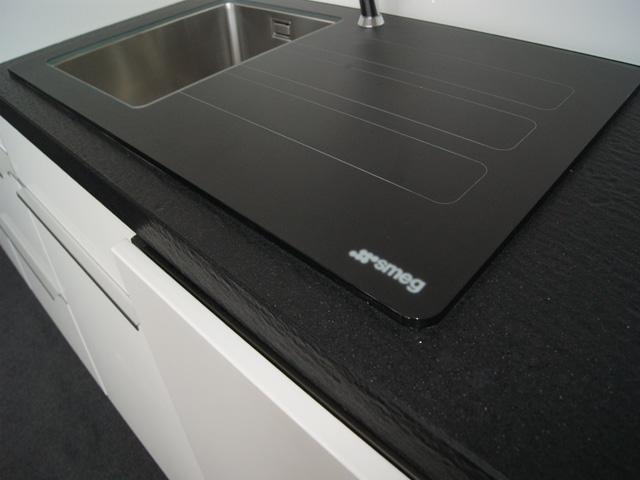 87 cm smeg sp lbecken edelstahl graphitglas marc newson smeg lmn1vnd glas sp le ebay. Black Bedroom Furniture Sets. Home Design Ideas