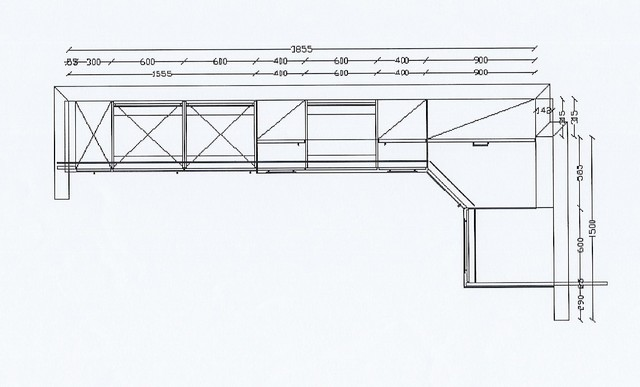 Küche ALNO AG - L-Form Demischrank Eckschrank Neu | eBay | {Eckschrank küche maße 11}