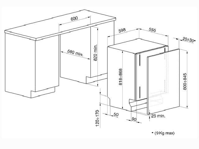 Smeg einbau spulmaschine 60cm vollintegriert sockelfrei for Spülmaschine 60 cm einbau