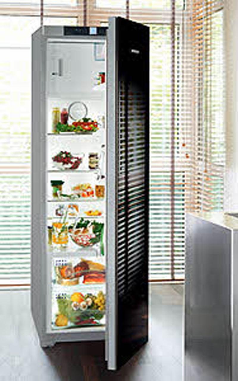 Liebherr Kühlschrank + Gefrier Adward A++ Front Glas Schwarz ...